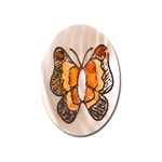 Vintage, Oval Mother of Pearl Scrimshaw, Butterfly