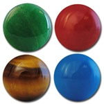 Wholesale Round Semi Precious Stone Cabochon - 15mm, available in (Jade add $1.00), Red Agate, Tiger Eye & Turquoise.