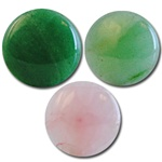 Wholesale Round Semi Precious Stone Cabochon - 25mm, available in Jade, Taiwan Jade & Rose Quartz.