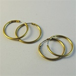 "Wholesale Endless Hoop Earrings Classic hoop earrings, come in two sizes. 3/4"" and 5/8"" (144 pcs. minimum)"
