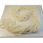 "Wholesale Strung Pearls Temporally strung pearls 4mm on 60"" length strands."