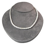 Sterling Silver Crystal Rhinestone Necklace