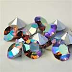 Wholesale Austrian Swarovski Crystal Art. #1100 Lt.Smoked Topaz Aurore Boreale, 11mm. (36pcs. minimum)