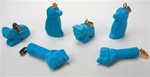 Turquoise Howlite Charms - Dog, Cat, Fist, silver or gold bail