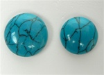 Synthetic Turquoise Round Cabochons