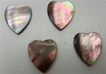 Genuine Mother of Pearl Black 9mm Heart