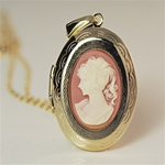 Wholesale Oval Cameo Locket Necklace