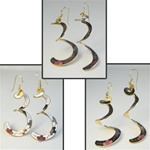 Wholesale Assorted Cloisonne Dangle Earrings Beautiful cloisonne enamel earrings come in assorted colors. (1 dozen minimum)