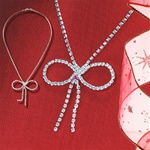 Austrian Crystal Bow Necklace
