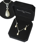 Pearl Necklace Earring Set