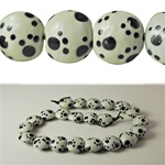 Hand Painted Glass Beads paw prints