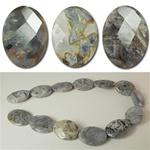Genuine Gray Agate Beads