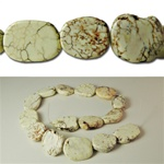 Genuine Magnesite Flat Slab Beads