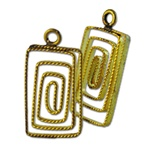 Wholesale Brass Wire Rectangle  Pendants 12x20mm. (25pc minimum)