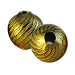 Wholesale Vintage Brass Beads Decorative brass beads, 8mm. (72 pcs)