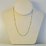 Wholesale Brass Necklace Brass barl skip chain necklace 16