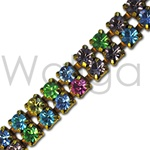 Wholesale Swarovski Rhinestone Chain - Double Row Light Multi