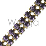 Double Row Tanzanite Rhinestone Chain