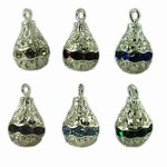 Silver filigree Beads Pear Shape Drops