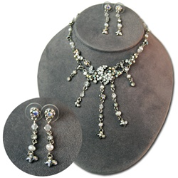 Aurora Borealis & Crystal Necklace & Earring Set