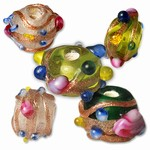 Glass Wedding Cake Beads