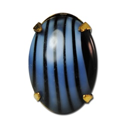 Wholesale Vintage Striped Glass Stone