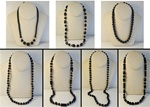 Wholesale Jet Pearl Necklaces Assorted sizes and styles.