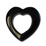 Black Onyx Floating Heart Pendant