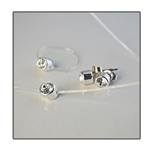 Genuine Sterling Silver Cubic Zirconia Set Dazzling 5mm CZ stones set in sterling silver on invisible cord. Includes anklet, ring & earrings.