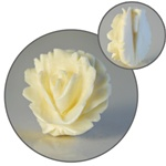 Genuine Carved Ivory Rose Pendant  Beautiful ivory rose pendant, 15mm.