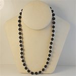 Sterling Silver & Black Onyx Necklace Beautiful black onyx and sterling silver beaded necklace, 20