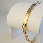 "Wholesale Genuine Diamond ID Bracelet Captivating engraver ready bracelet, 8"" comes with gift box."