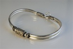Wholesale Sterling Silver Bali Bead Bracelet Elegant sterling silver, with 5mm bali beads, 1 3/4 x 2 1/2""