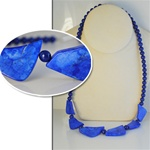 Wholesale Genuine Blue Lapis Necklace Beautiful lapis 8mm beads & 1 1/2