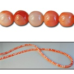 Wholesale Coral Beads Genuine coral beads, 2mm-3.5mm, sold by the strand, (120 beads per strand).
