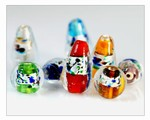 Foiled Glass Lamp Work Beads