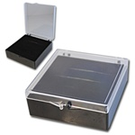 "Wholesale Lucite Box Comes with black velvet insert for rings, earrings or pendants. 3""x 3"". (Minimum order is 12 Dozen for $60.00)"