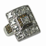 Ladies cubic zirconia ring