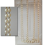Vintage Matte Pearl Link Chain