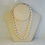 "Wholesale Pearl Necklace Elegant 10mm pearl necklace, 18"".Comes in Peach, Pink & Cream. (1 dozen minimum)"