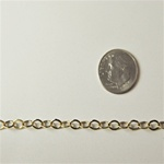 Oval Link Gold Plated  Chain