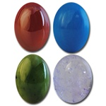 Wholesale Oval Semi Precious Stone Cabochon - 18x13mm, available in Carnelian,Turquoise, Taiwan Jade & (Amethyst +$1.00). ( 2 pcs minimum)
