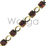 Siam and Aurum Rhinestone Chain