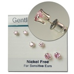 Pink Cubic Zirconia 3 Size Earring Set