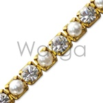 Rhinestone Chain Crystal and Pearl