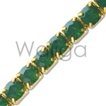 Rhinestone Chain Pacific Green Opal