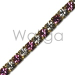 Rhinestone Chain Rose Crystal
