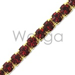 Rhinestone Chain Ruby