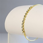 Gold Plated Chain Bracelet with Crystal