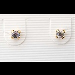 CZ Stud Earrings with 14K Gold Posts, RM127